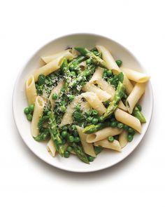 spaghetti with peas and zucchini ribbon-martha stewart recipe ...
