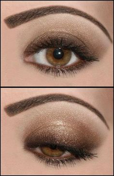 bronzy eyeshadow - pretty!