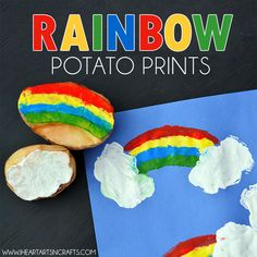 Here's a simple art activity that the kids love! We love potato stamping and are always making some kind of prints for the holidays. So for St. Patrick's day I carved out these easy rainbow potato stamps, for some easy St. Patrick's Day art! This activity is perfect for older kids who can paint the …