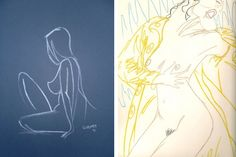Original signed female pastel nude, eBay  |  The Rac, Mama Singing in the Rain, pastel drawing,  eBay