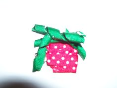 Ribbon Strawberry Hair Clip by melanieswartz on Etsy, $3.50