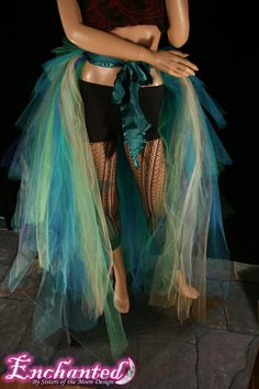 Massive Mermaid burlesque tie on bustle costume--One Size XS-XL--Enchanted