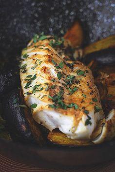 FISH -- FISH Black Cod, Black Radish, and Turmeric.