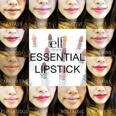 elf Essential lipsticks
