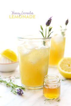 Honey Lavender Lemonade- made with lavender-infused honey simple syrup ...