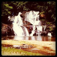 Cane Creek Falls, in Dahlonega #Georgia.