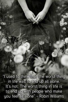 feeling alone when not alone