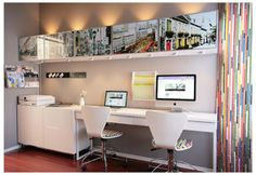 BESTA Photography Display (wallpaper?) and desk