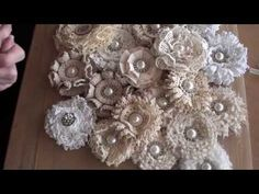 Here are some flowers I have made and the tutorial for the shabbychic loop flower, I hope you like it :) Links below for my other flower tutorials. http://ww...