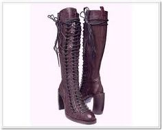Lace Up Boots Trends. Follow me on.fb.me/Po8uIh