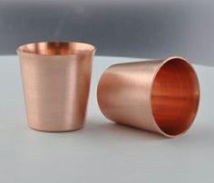 solid copper shot glasses