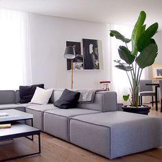 Bergen sofa in tile white fabric salon pinterest for Boconcept canape lit