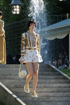Golden Creepers at Chanel Cruise show, Versailles 2012