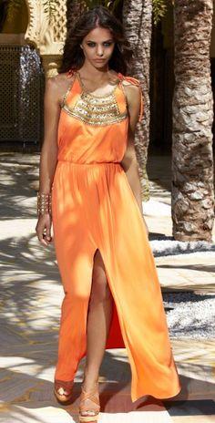Melissa Odabash 2013 Sanela Apricot Long Dress #long #dress #sanela #apricot #beach #summer southbeachswimsuits.com