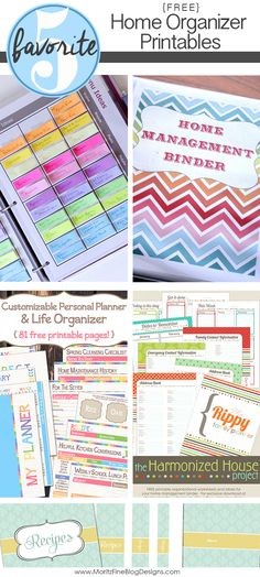 Get your home organized with a variety of these free Home Organizer Printables. Keep all your valued information in one spot!