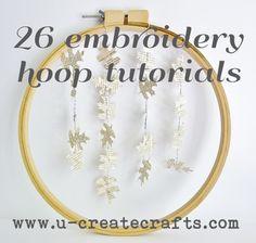 DIY Crafts: 26 Embroidery Hoop Tutorials