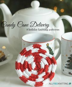 Candy Cane Delivery: 8 Holiday Knitting Patterns— Here at AllFreeKnitting, we've got a few sweet knits modeled after those common holiday treats. From knit hat patterns for both baby and yourself to holiday hostess gifts, you're sure to find something you can add into your holiday plans.