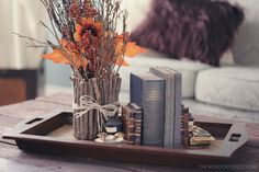 †Make a vase out of sticks! Tutorial time! Love how this looks with autumn flowers and foliage, and with twigs tucked into the arrangement. Prettiest one I've seen!