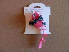 Pink Seahorse ribbon sculpture hair clip by melanieswartz on Etsy, $4.00