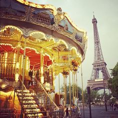 PARIS: of course a visit to the eiffel tower and the beautiful carousel next to it. #MyTripAdvice photo by ohhappyday