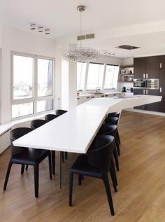 HI MACS Loft Antwerp 1 12 Exquisite Kitchen Designs Celebrating Innovation by HI MACS