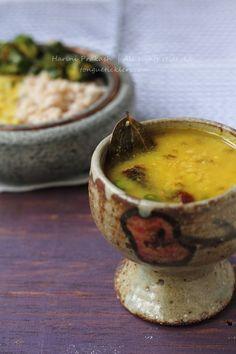 Bhaja muger dal with brown rice, Roasted mung lentil soup, Bengali ...