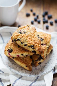 Bakery Style Blueberry Scones with that crunchy sugar on the outside!   pinchofyum.com