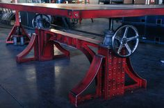 Firehouse bar table vintage industrial furniture - Vintage Industrial Blacksmithing And Vintage Industrial Furniture