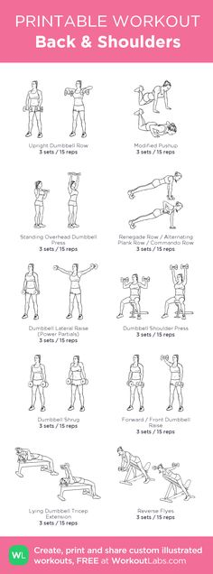 Back & Shoulders: my custom printable workout by @WorkoutLabs #workoutlabs #customworkout