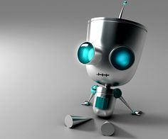 Cute little robot. The great thing about robots is you can program them to replicate affection and they'll never say no lol