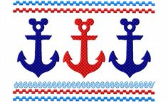 Disney Cruise Line Mickey Anchor Faux by Thanks4TheAdventure