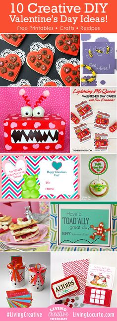 10 CUTE DIY Valentines Day Free Printables and Craft ideas!