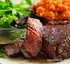 Fillet Mignon Soaked and Cooked in Red Wine