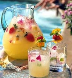 Recipe for Summer ~ Pineapple Strawberry Cooler
