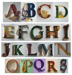 quilled letters