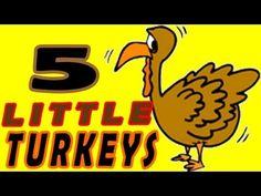 ▶ Thanksgiving Songs for Children - FIVE LITTLE TURKEYS - Turkey Kids Songs by The Learning Station - YouTube