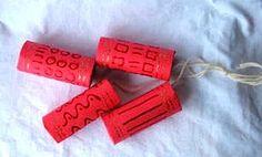 strand of toilet paper tube firecrackers