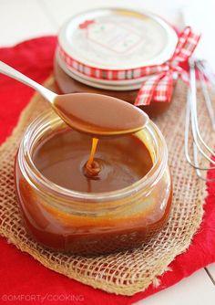 Easy Salted Caramel Sauce http://www.thecomfortofcooking.com/2013/12/easy-salted-caramel-sauce.html