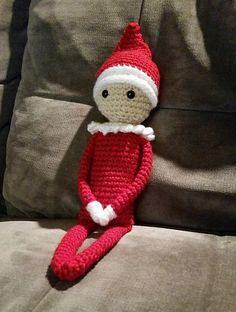 Ravelry: Elf on the Shelf pattern by Sydney Duenas. ☀CQ #crochet #amigurumi