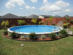 Above Ground Pools Decks Idea | Cool Above Ground Pool Deck Ideas with a Round Swimming Pool