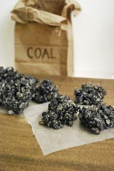 Lumps of Coal (Oreo Rice Krispies Treats).