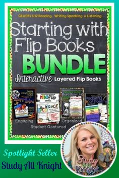 """Meet Spotlight Seller Study All Knight: """"Finding differentiated teaching materials for students with learning disabilities, who are struggling, or disengaged can be a challenge. Begin here by trying my Starting With Flip Books Bundle. Content driven flip books, shape books, and interactives will turn your classroom into a learning center where students flourish."""""""