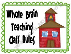 colorful class rules posters for whole brain teaching! FREE!