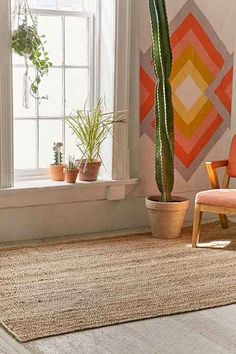 Roni Woven Jute Rug - Urban Outfitters
