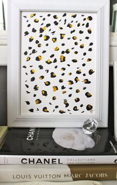 Leopard Love - Black, White, and Gold Original Painting