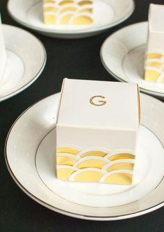 DIY Art Deco style wedding favors   100 Layer Cake
