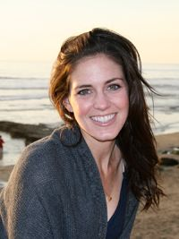 Woman launches swimwear line. Ginny Kaufmann woman entrepreneur.
