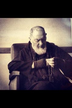 """Imagine Jesus crucified in your arms and on your chest, and say a hundred times as you kiss His chest - """"This is my hope, the living source of my happiness. This is the heart of my soul; nothing will ever separate me from His love."""" - Padre Pio"""