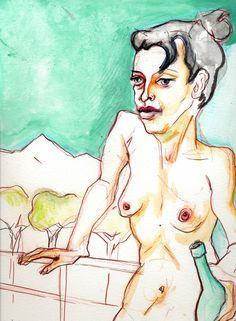Dana Ellyn, Balcony, 2011, watercolor