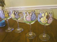 My easter bunny wine glasses :)